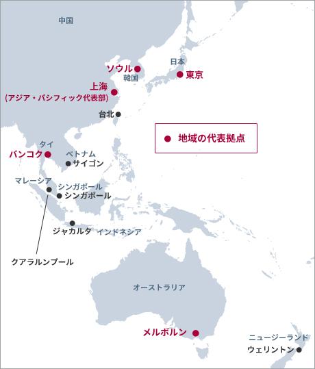 アジア・パシフィック地域におけるサンゴバンの拠点