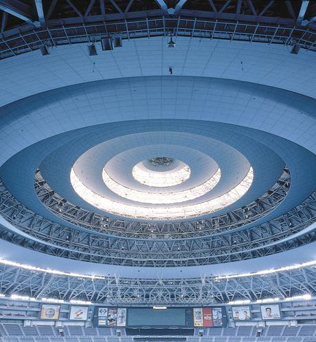 Sound absorption in KYOCERA Dome Osaka