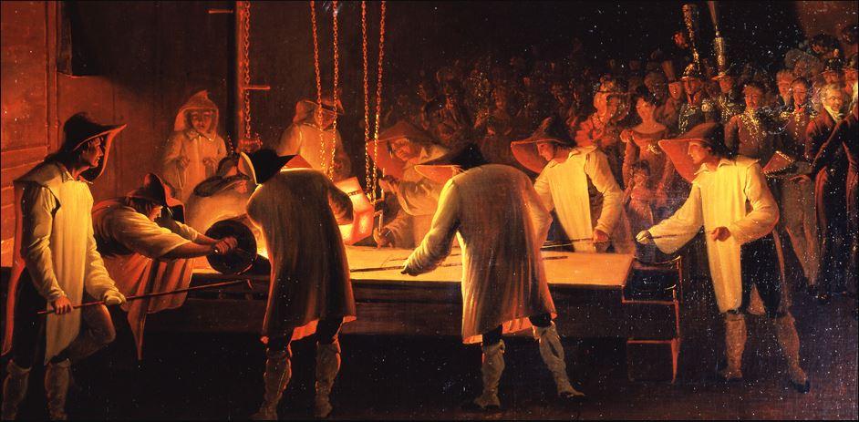 Creation of the Manufacture des Glaces de Mirroirs.