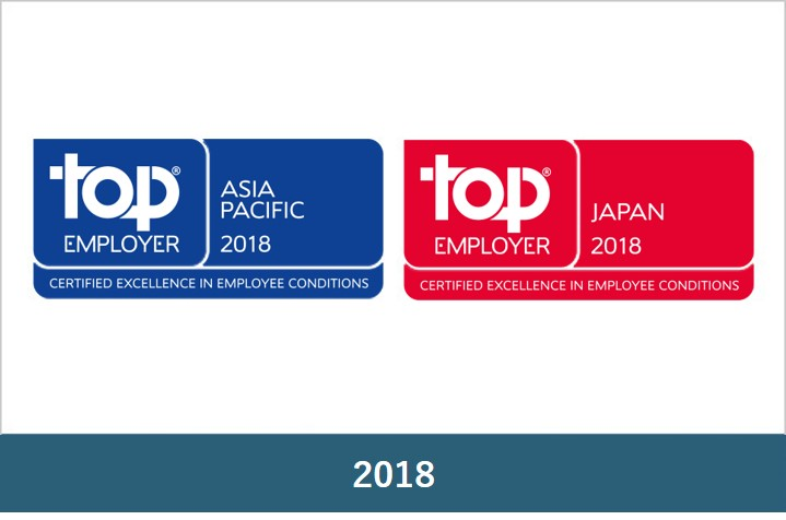 Top Employers Japan 2018 & Top Employers Asia-Pacific 2018