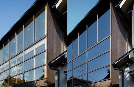 夏は暑い日射しを遮り、冬は西日の眩しさを遮れる超高機能ガラスです。